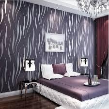 <b>PAYSOTA Modern</b> Fashionable 3D Stripe Wallpaper Bedroom ...