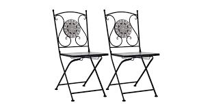 Mosaic <b>Bistro Chairs 2 pcs</b> Grey - Matt Blatt