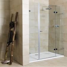 bathroomglamorous glass shower door designs inspiration with metal frame and brown ceramic wall also bathroomglamorous glass door design ideas photo gallery