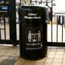 trash cans default: no trash cans equals less trash at a number of stations around new york city transits subway system results of the ongoing pilot program that involved