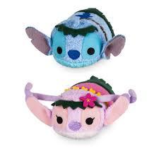 Stitch and Angel ''Tsum Tsum'' Plush Hawaiian <b>Set</b> - <b>Mini</b> 3 <b>1</b>/2 ...