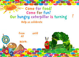 very hungry caterpillar invitation template printable to this invitation click on the image and save image as to keep it you can use our button when you re done start fill the