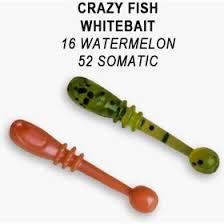 Силиконовая <b>приманка Crazy Fish Whitebait</b> купить по цене от 218