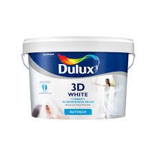 <b>Краска</b> для стен и потолков матовая Dulux 3D White база BW 2,5 л