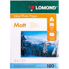 <b>Бумага А4 LOMOND</b> для стр. принтеров <b>180г</b>/<b>м2</b> 25л мат.одн.