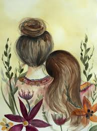 Etsy Art Mother And Daughter Our Garden Art Print Gift Idea Mothers Day