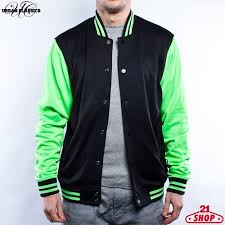 <b>Толстовка URBAN CLASSICS Neon</b> College Jacket Black-Green ...
