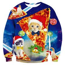 Uideazone <b>Men Women</b> Ugly Christmas <b>Pullover Sweatshirts 3D</b>