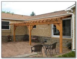 How to Build Pergola Attached to House   Patio Design   Perfect    Image of  DIY Pergola Attached to House