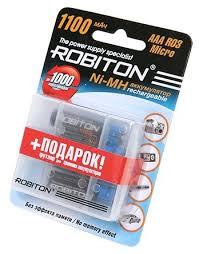 <b>Аккумулятор</b> Ni-Mh 1100 мА·ч <b>ROBITON AAA</b> R03 Micro 1100 ...