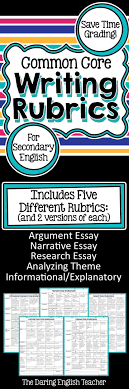 best ideas about secondary teacher high school these ccss aligned writing rubrics will help you save time grading your students essays
