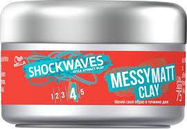 <b>Моделирующая глина</b> для волос Wella Shockwaves Текстура ...