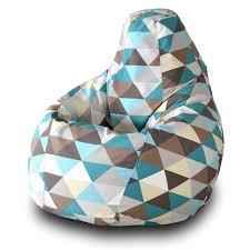 <b>Кресло</b>-<b>мешок груша Пазитифчик Ромб</b> (жаккард) 110х85 см