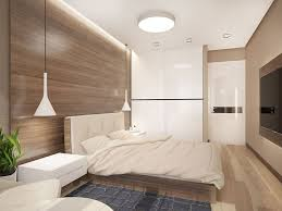 zen colors bedroom design: instead of color the room plays with texture from the smooth closet doors to the knobby rug beside the bed which itself is draped in a soft