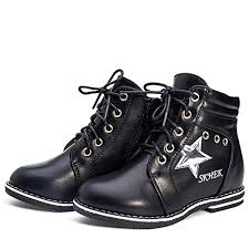 A2kmsmss5a <b>Children Boots</b> for Girls <b>Shoes Kids PU</b> Patchwork Slip ...