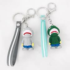 New <b>fashion simple</b> shark <b>silicone</b> doll key chain <b>fashion</b> creative ...