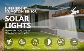 <b>Solar</b> Motion Sensor Light <b>Outdoor</b> - 800Lumens 8 LED Spotlight 5 ...