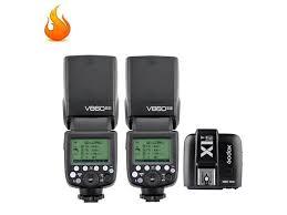 2X <b>Godox</b> V860II-S <b>TTL</b> Wireless <b>2.4G</b> Flash Speedlite & <b>X1T</b>-<b>S</b> ...