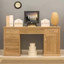 baumhaus mobel solid oak twin pedestal desk baumhaus mobel solid oak corner