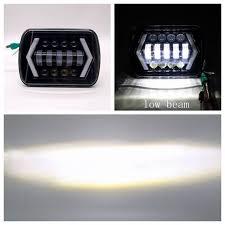 <b>a pair</b> Square 5x7 7x6 inch 90W <b>Led Car</b> Headlight for Dodge Van ...