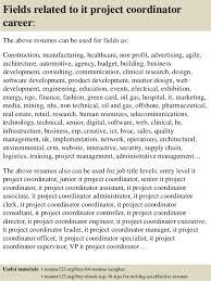 top  it project coordinator resume samples       fields related to it project coordinator