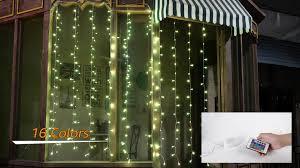 Ollny Curtain Fairy Lights,<b>16 Colour</b> Changing Curtain Lights 240 ...