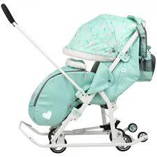 Санки - <b>коляска</b> Ника Детям <b>Disney Baby</b> 2 с выкатными колесами