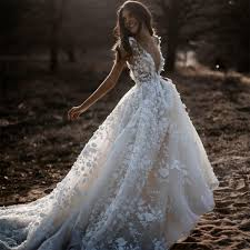 Discount Sexy Bohemian <b>Wedding</b> Dress Short Sleeves Deep V ...