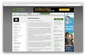 job titles in tech game developer