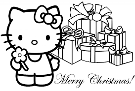 printable hello kitty coloring pages for kids hello kitty christmas coloring page