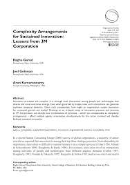 (PDF) Complexity Arrangements for Sustained Innovation: Lessons ...