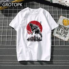 Japanese <b>Godzilla</b> Prints Man's T shirt King of The Monsters ...