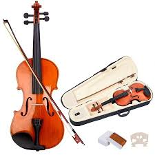 Costway <b>Full Size 4/4 Natural</b> Acoustic Violin Fiddle with Case Bow ...