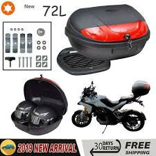 Universal <b>72L Motorcycle Motorbike</b> Top <b>Box</b> LARGE Back Rear ...