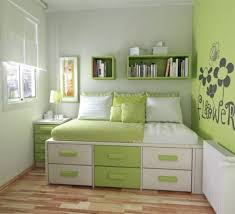 cute bedroom ideas teenage girls home: bedroom alluring cute bedroom themes home decor teenage girl bedroom simple with green white wooden storage beds on the brown wood floor and green