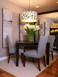 casual dining room lighting with low ceiling polkadot drum shade pendant lamp over white tulips casual dining room lighting