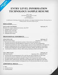 information technology resume examples   information technology    information technology entry level resume template