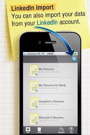 how to make resume cv with your iphone or ipad on the go   snapguideif you have a linkedin account  you can easily import your datas into your resumes
