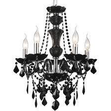 picture of 22 victorian traditional crystal round chandelier jet black 5 lights black chandelier lighting photo 5