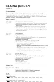banquet server resume samples   visualcv resume samples databasebanquet server resume samples