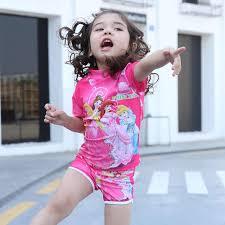 Two Pieces Baby <b>Girls Bathing Suit Elsa Anna</b> Sophia Swimsuit ...