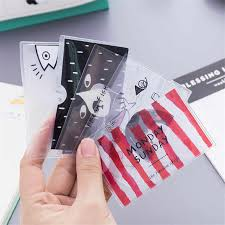 Cartoon Business Bus Bank Credit Card <b>Small Fresh ID</b> Card Holder ...
