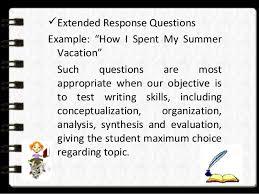 essay on summeressay type of test