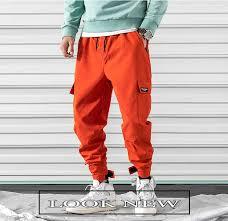 2019 Spring Casual Harem <b>Pants Men Streetwear</b> Side pockets ...