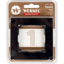 <b>Рамка</b> для розеток и выключателей <b>Werkel Favorit</b> 1 пост, стекло ...