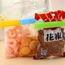 <b>1pc</b> PP Material Kitchen Storage <b>Food Snack</b> Seal Tool Sealing Bag ...