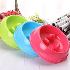 <b>Creative Non Slip</b> Cat Feed <b>Water Dish</b> Plastic Food Bowl Puppy ...