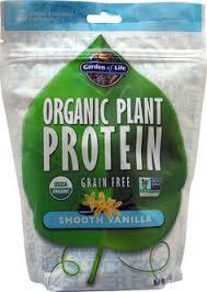 Garden of Life <b>Organic Plant Protein</b> Smooth Vanilla -- 9.4 oz ...