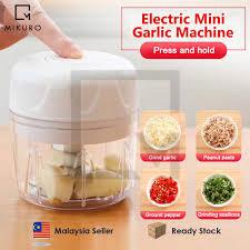 Rechargeable <b>Mini Electric</b> Food <b>Chopper</b> Portable <b>Garlic</b> ...