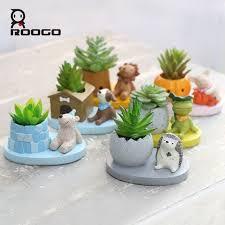 <b>ROOGO</b> Cute Animal Planters Japanese Kawaii Style Succulents ...